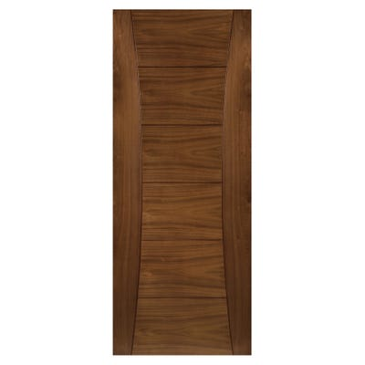 Deanta Internal Walnut Pamplona 6 Panel Prefinished Door