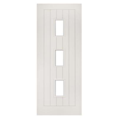 Deanta Internal White Primed Ely 3L Unglazed FD30 Fire Door