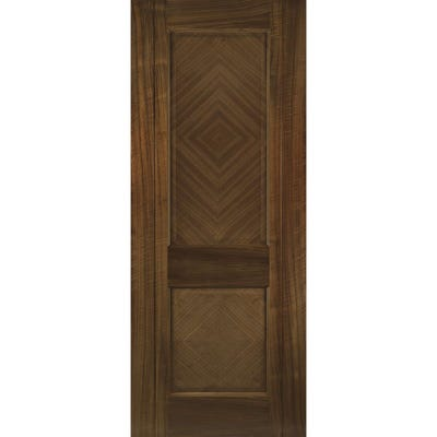 Deanta Internal Walnut Kensington Prefinished 2 Panel FD30 Fire Door 1981 x 610 x 44mm