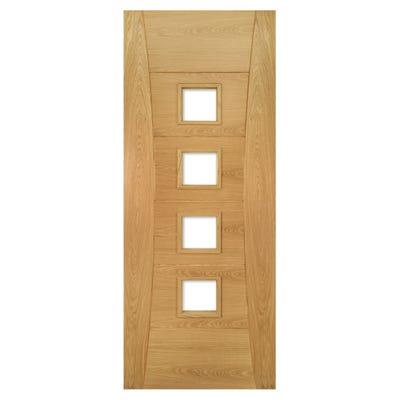 Deanta Internal Oak Pamplona 4L Prefinished Unglazed FD30 Fire Door
