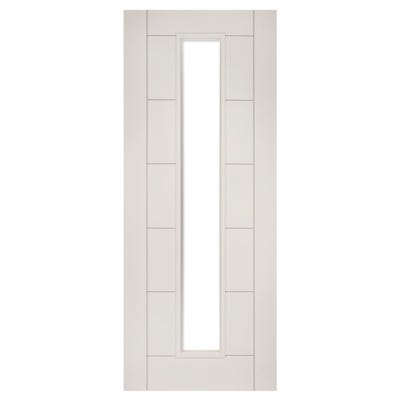 Deanta Internal White Primed Seville 1L Unglazed FD30 Fire Door