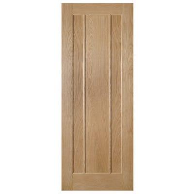 Deanta Internal Oak Norwich 3 Panel FD30 Fire Door