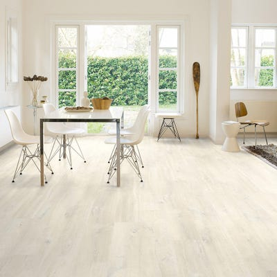 Quick Step Creo CR3178 Charlotte Oak White Laminate Flooring