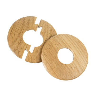 Solid Oak Radiator Pipe Cover 15mm Lacquered Pack of 2
