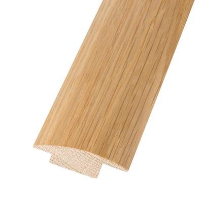 Solid Oak Semi Ramp Profile 15mm Floors Lacquered 0.9m