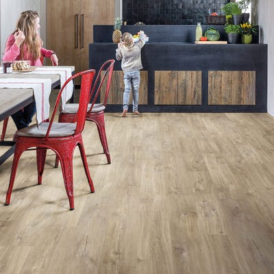 Quick Step Livyn Balance Click+ BACP40031 Canyon Oak Light Brown with Saw Cuts Vinyl Flooring