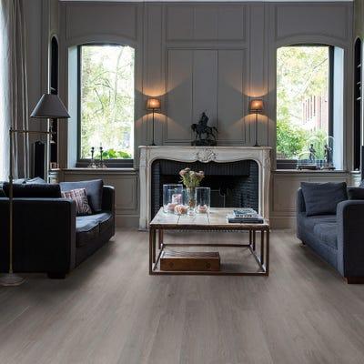 Quick Step Livyn Balance Click+ BACP40060 Silk Oak Dark Grey Vinyl Flooring