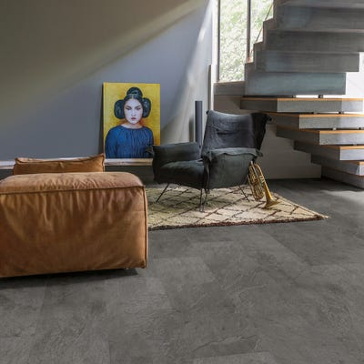 Quick Step Livyn Ambient Click AMCL40034 Grey Slate Vinyl Flooring