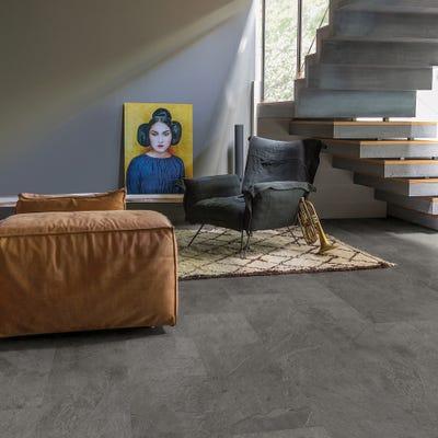 Quick Step Livyn Ambient Click+ AMCP40034 Grey Slate Vinyl Flooring