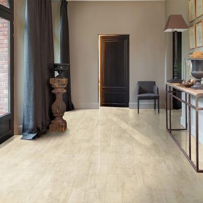 Quick Step Livyn Ambient Click+ AMCP40046 Cream Travertine Vinyl Flooring