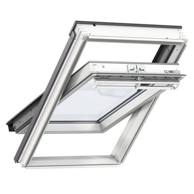 VELUX GGL White Painted Laminated Centre Pivot Roof Window