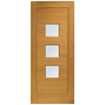 XL Joinery External Oak Turin Prefinished 3L Obscure Glazed Door 1981 x 838 x 44mm