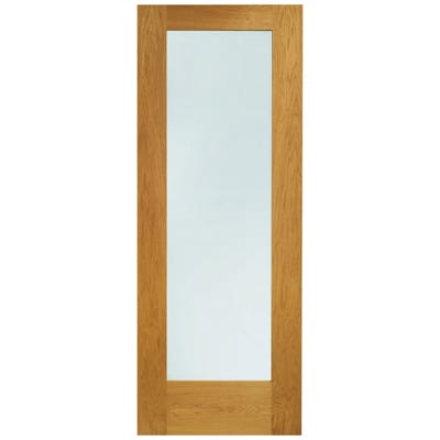 XL Joinery External Oak Prefinished 1L Pattern 10 Clear Glazed Door