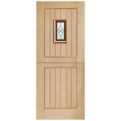 XL Joinery External Oak Chancery Stable M&T 1L Glazed Door