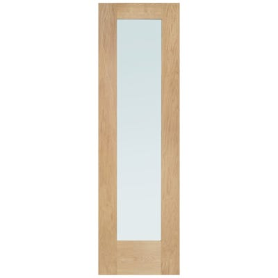 XL Joinery External Oak Pattern 10 Obscure Glazed Sidelight