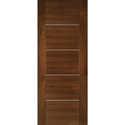 Deanta Internal Walnut Valencia 5 Panel Prefinished Door