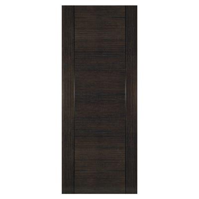 Deanta Internal Dark Grey Ash Montreal 6 Panel Prefinished Door