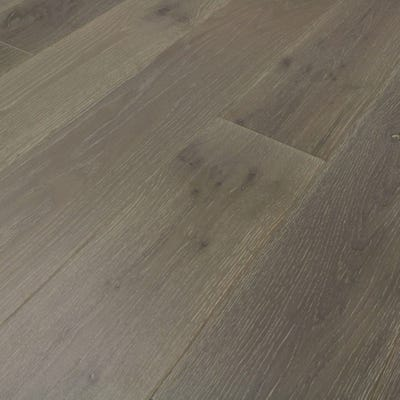 Sample of 14 x 189mm Clay Grey Oak Matt Lacquered Click Engineered Wood Flooring
