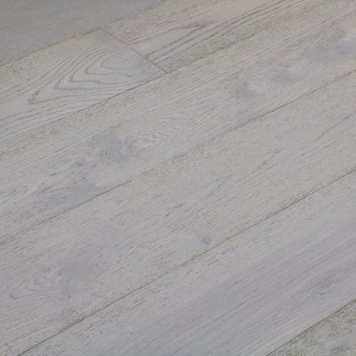 Sample of 14 x 189mm Stone Grey Oak Matt Lacquered Click Engineered Wood Flooring