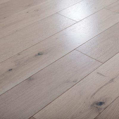 14 x 190mm Pure White Oak Matt Lacquered T&G Engineered Wood Flooring