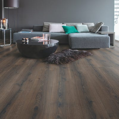 Quick Step Majestic MJ3553 Desert Oak Brushed Dark Brown Laminate Flooring