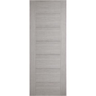 LPD Internal Light Grey Hampshire 7 Panel Prefinished FD30 Fire Door