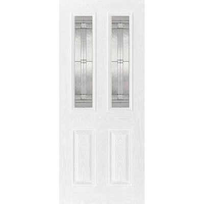 LPD External Composite/GRP Malton 2L White Glazed Door