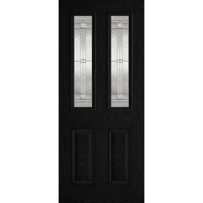 LPD External Composite/GRP Malton 2L Black Glazed Door
