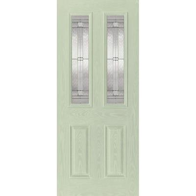 LPD External Composite/GRP Malton 2L Green Glazed Door