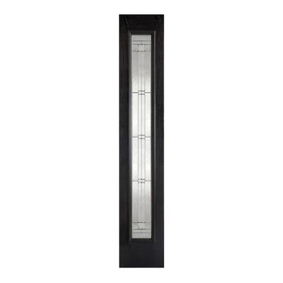 LPD External Composite/GRP Black Elegant Zinc Patterned Sidelight 2032 x 356 x 44mm