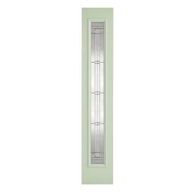 LPD External Composite/GRP Green Elegant Zinc Patterned Sidelight 2032 x 356 x 44mm