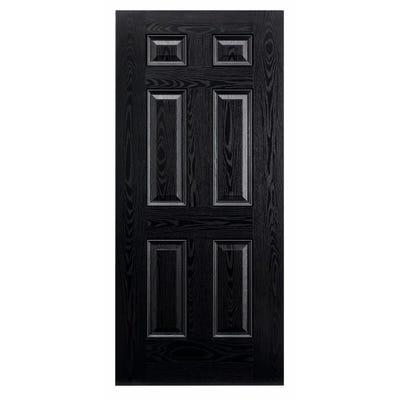 LPD External Composite/GRP Colonial 6 Panel Black Door