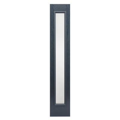 LPD External Composite/GRP Grey Frosted Glass Sidelight 2032 x 356 x 44mm