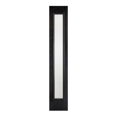 LPD External Composite/GRP Black Frosted Glass Sidelight 2032 x 356 x 44mm