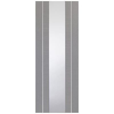 XL Joinery Internal Light Grey Forli Prefinished 1L Clear Glazed Door 1981 x 762 x 35mm