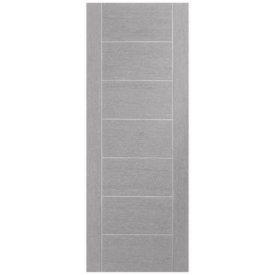 XL Joinery Internal Light Grey Palermo 7 Panel Prefinished Door
