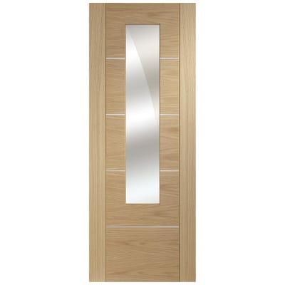 XL Joinery Internal Oak Portici Prefinished Mirror Door