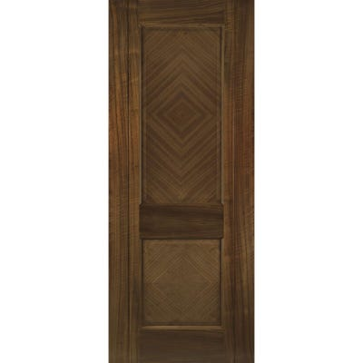 Deanta Internal Walnut Kensington Prefinished 2 Panel FD30 Fire Door 2040 x 826 x 44mm
