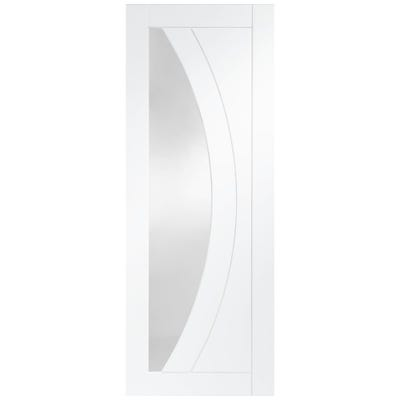 XL Joinery Internal White Primed Salerno 1L Clear Glazed FD30 Fire Door