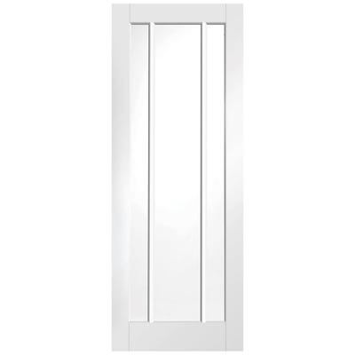 XL Joinery Internal White Primed Worcester 3L Clear Glazed FD30 Fire Door 1981 x 838 x 44mm