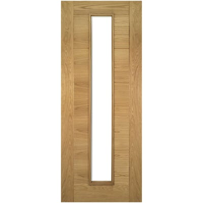 Deanta Internal Oak Seville Prefinished 1L Clear Glazed FD30 Fire Door