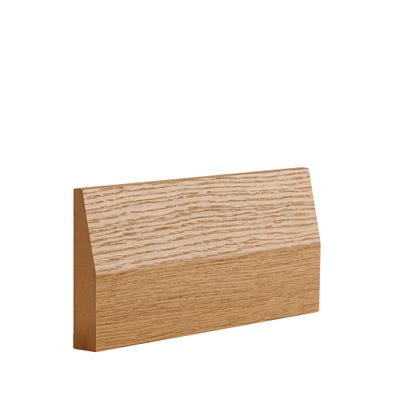 Deanta Internal Oak Veneer Half Splayed Architrave 90 x 16 x 2100mm