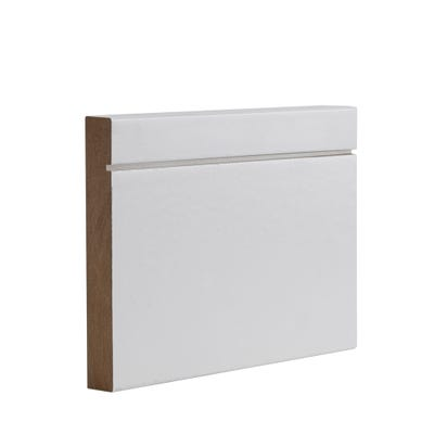 Deanta Internal White Primed Shaker Skirting 3.6m x 147mm x 16mm Pack of 4