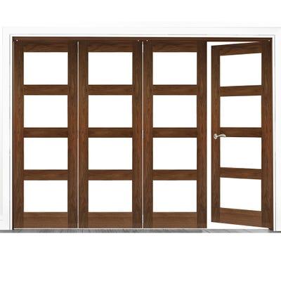 Deanta Internal Walnut Coventry Prefinished Clear Glazed 4 (3+1) Door Room Divider 2060 x 2825 x 133mm