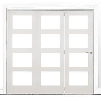 Deanta Internal White Primed Coventry Clear Glazed 3 Door Room Divider 2060 x 1908 x 133mm
