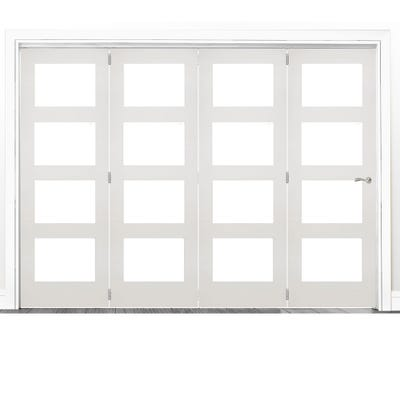 Deanta Internal White Primed Coventry Clear Glazed 4 Door Room Divider 2060 x 2521 x 133mm
