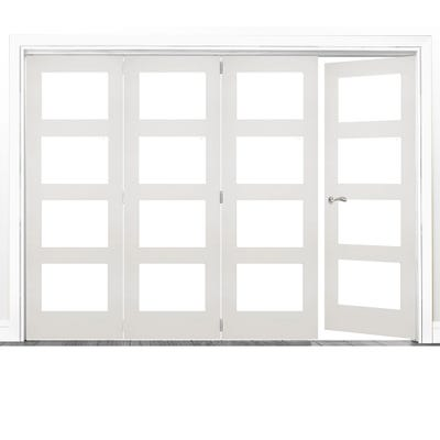 Deanta Internal White Primed Coventry Clear Glazed 4 (3+1) Door Room Divider 2060 x 2825 x 133mm