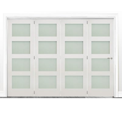 Deanta Internal White Primed Coventry Frosted Glazed 4 Door Room Divider 2060 x 2521 x 133mm
