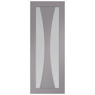 XL Joinery Internal Light Grey Verona Prefinished 2L Clear Glazed Door