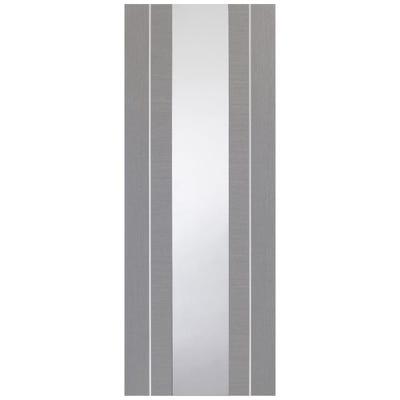 XL Joinery Internal Light Grey Forli Prefinished 1L Clear Glazed Door